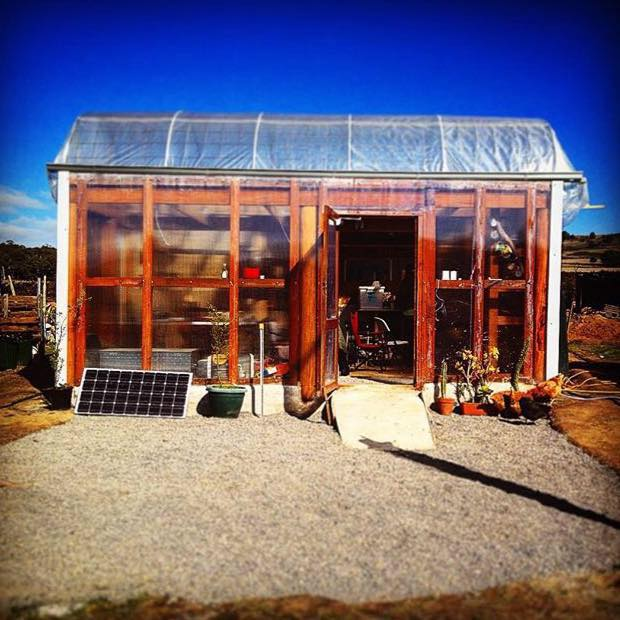 picture of abundance farm temporary kitchen and dinning area - long term it wil be a greenhouse