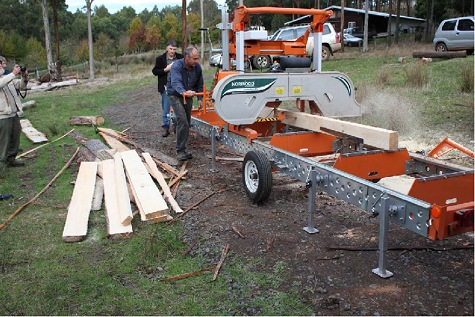 Rowan Reed milling agroforetry grown timber
