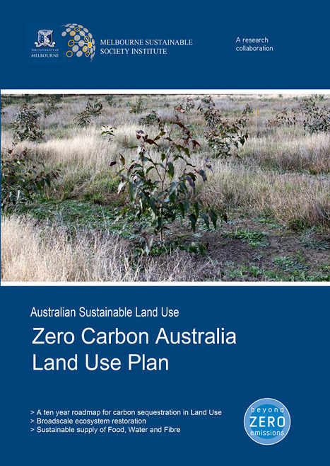 mock cover of the land use report showing tree planting at Lala